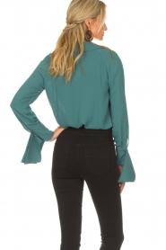 ELISABETTA FRANCHI | Body blouse Monaet | blauw  | Afbeelding 6