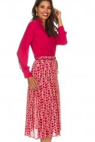 ELISABETTA FRANCHI   Body blouse Mireille   rood    Afbeelding 4