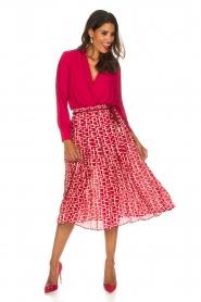 ELISABETTA FRANCHI   Body blouse Mireille   rood    Afbeelding 3