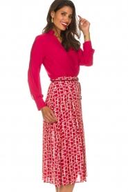 ELISABETTA FRANCHI   Body blouse Mireille   rood    Afbeelding 5