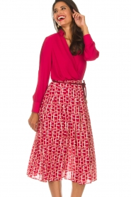 ELISABETTA FRANCHI   Body blouse Mireille   rood    Afbeelding 2