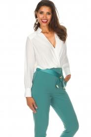 ELISABETTA FRANCHI | Body blouse Mireille | wit  | Afbeelding 4