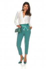 ELISABETTA FRANCHI | Body blouse Mireille | wit  | Afbeelding 3