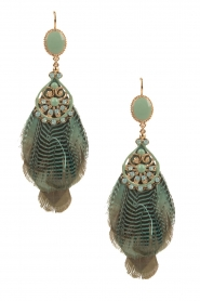 Satellite Paris |  14ct gold gilded earrings Jose | green  | Picture 1