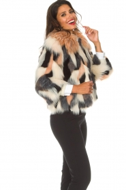 ELISABETTA FRANCHI | Faux fur jas Gigi | print  | Afbeelding 4