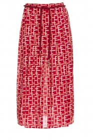 ELISABETTA FRANCHI |  Maxi skirt Oreille | red  | Picture 1