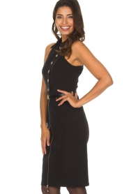 ELISABETTA FRANCHI | Jurk met gouden rits Camilla | zwart  | Afbeelding 5