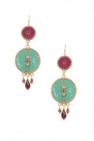 Satellite Paris | 14k goud vergulden oorbellen DMarci | turquoise  | Afbeelding 1