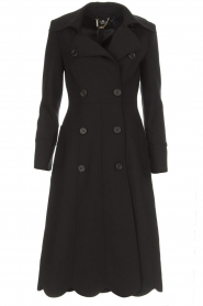 ELISABETTA FRANCHI |  Trench coat Felicia | black  | Picture 1