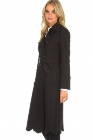 ELISABETTA FRANCHI |  Trench coat Felicia | black  | Picture 5