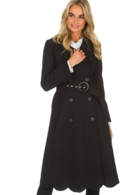 ELISABETTA FRANCHI |  Trench coat Felicia | black  | Picture 4