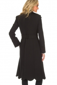 ELISABETTA FRANCHI |  Trench coat Felicia | black  | Picture 6