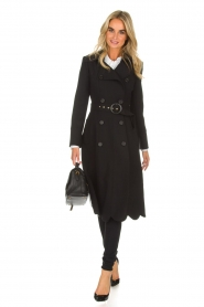 ELISABETTA FRANCHI |  Trench coat Felicia | black  | Picture 3
