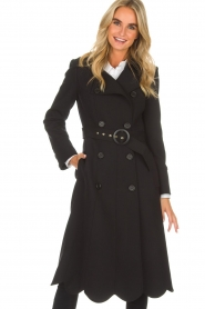 ELISABETTA FRANCHI |  Trench coat Felicia | black  | Picture 2