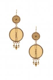 Satellite Paris | 14k goud vergulden oorbellen DMarci |goud  | Afbeelding 1