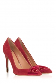 ELISABETTA FRANCHI |  Suede pumps Babette | red  | Picture 4