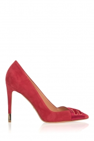ELISABETTA FRANCHI |  Suede pumps Babette | red  | Picture 1