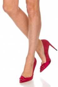 ELISABETTA FRANCHI |  Suede pumps Babette | red  | Picture 3