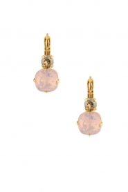 Satellite Paris | 14k goud vergulden oorbellen Aliya | roze  | Afbeelding 1