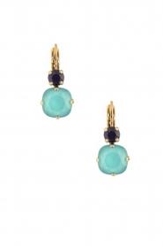 Satellite Paris | 14k goud vergulden oorbellen Aliya | blauw  | Afbeelding 2