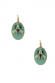 Satellite Paris |  14ct gold gilded earrings Aiko | turquoise  | Picture 1