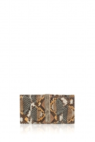 Tembi |  Leather wallet Snake | brown  | Picture 1