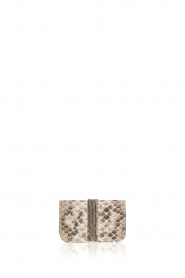 Tembi |  Leather cardholder Snake | white  | Picture 1