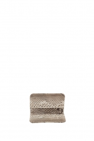 Tembi |  Leather cardholder Snake | white  | Picture 3