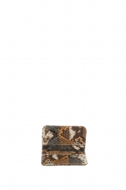 Tembi |  Leather cardholder Snake | brown  | Picture 3