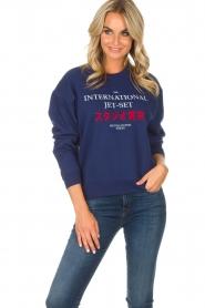 Zoe Karssen | Sweatshirt International | blauw  | Afbeelding 2