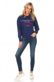 Zoe Karssen | Sweatshirt International | blauw  | Afbeelding 3