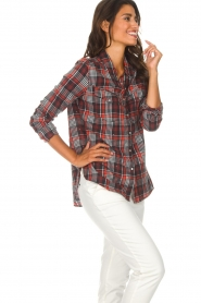 Zoe Karssen |  Plaid blouse Checked | red  | Picture 5