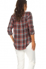 Zoe Karssen |  Plaid blouse Checked | red  | Picture 6