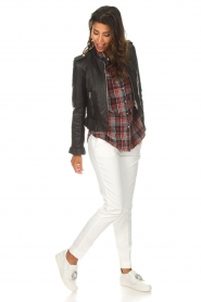 Zoe Karssen |  Plaid blouse Checked | red  | Picture 3