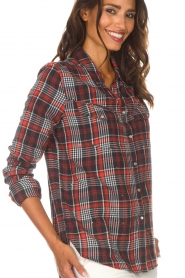 Zoe Karssen |  Plaid blouse Checked | red  | Picture 7