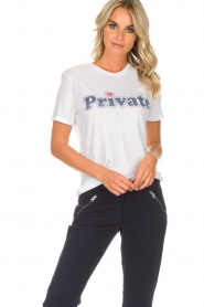 Zoe Karssen | T-shirt Private | wit  | Afbeelding 5