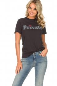 Zoe Karssen |  T-shirt Private | black  | Picture 2