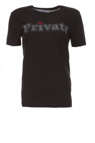 Zoe Karssen | T-shirt Private | zwart