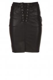 Zoe Karssen |  Leather skirt Mace | black  | Picture 1