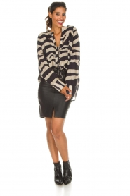 Zoe Karssen |  Leather skirt Mace | black  | Picture 3