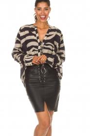 Zoe Karssen |  Leather skirt Mace | black  | Picture 2
