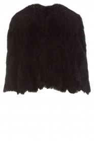 ELISABETTA FRANCHI | Faux fur jas Beau | zwart  | Afbeelding 1
