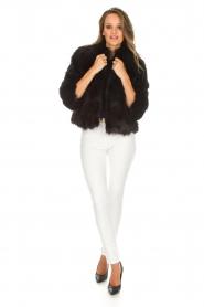 ELISABETTA FRANCHI | Faux fur jas Beau | zwart  | Afbeelding 3