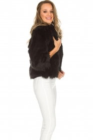 ELISABETTA FRANCHI | Faux fur jas Beau | zwart  | Afbeelding 4