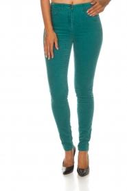 ELISABETTA FRANCHI |  Velvet pants Veronica | blue  | Picture 3