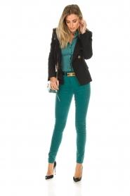 ELISABETTA FRANCHI |  Velvet pants Veronica | blue  | Picture 2