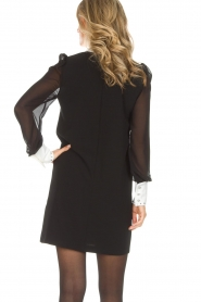 AnnaRita N |  Dress with collar and diamonds Camilia | black  | Picture 6