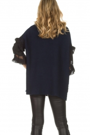 AnnaRita N |  Turtle neck with lace Mylena | navy  | Picture 6