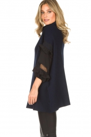 AnnaRita N |  Turtle neck with lace Mylena | navy  | Picture 5