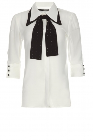 AnnaRita N | Blouse with bow Lisa | white  | Picture 1